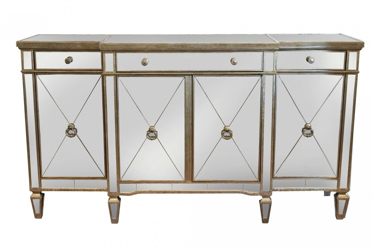 Details About Sofia Mirrored Buffet Table Antique Ds  41102   New With Mirrored Buffets (Photo 18 of 30)