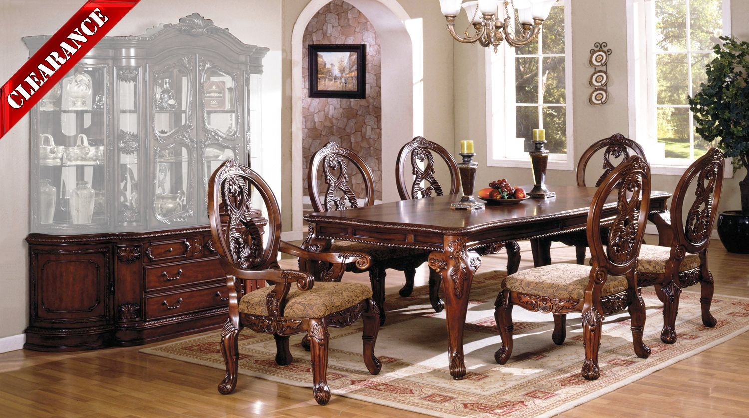 Details About Tuscany Ii Elegant Antique Cherry 8 Pc Formal Dining Room Set  W/ Buffet Inside Buffets With Cherry Finish (Photo 28 of 30)