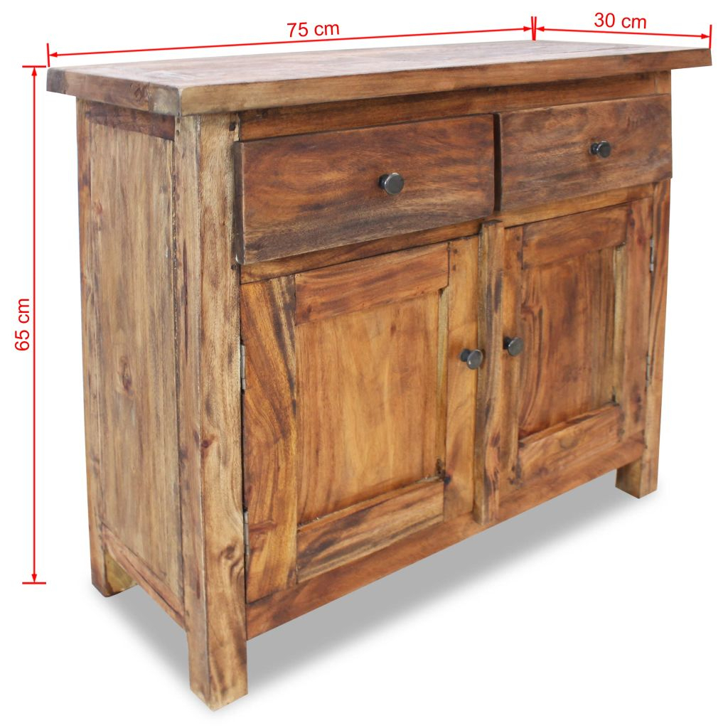 Details Zu Sideboard Altholz Massivholz Handgefertigt Kommode Schrank Anrichte 75X30X65 Cm With Regard To Norton Sideboards (Gallery 14 of 30)
