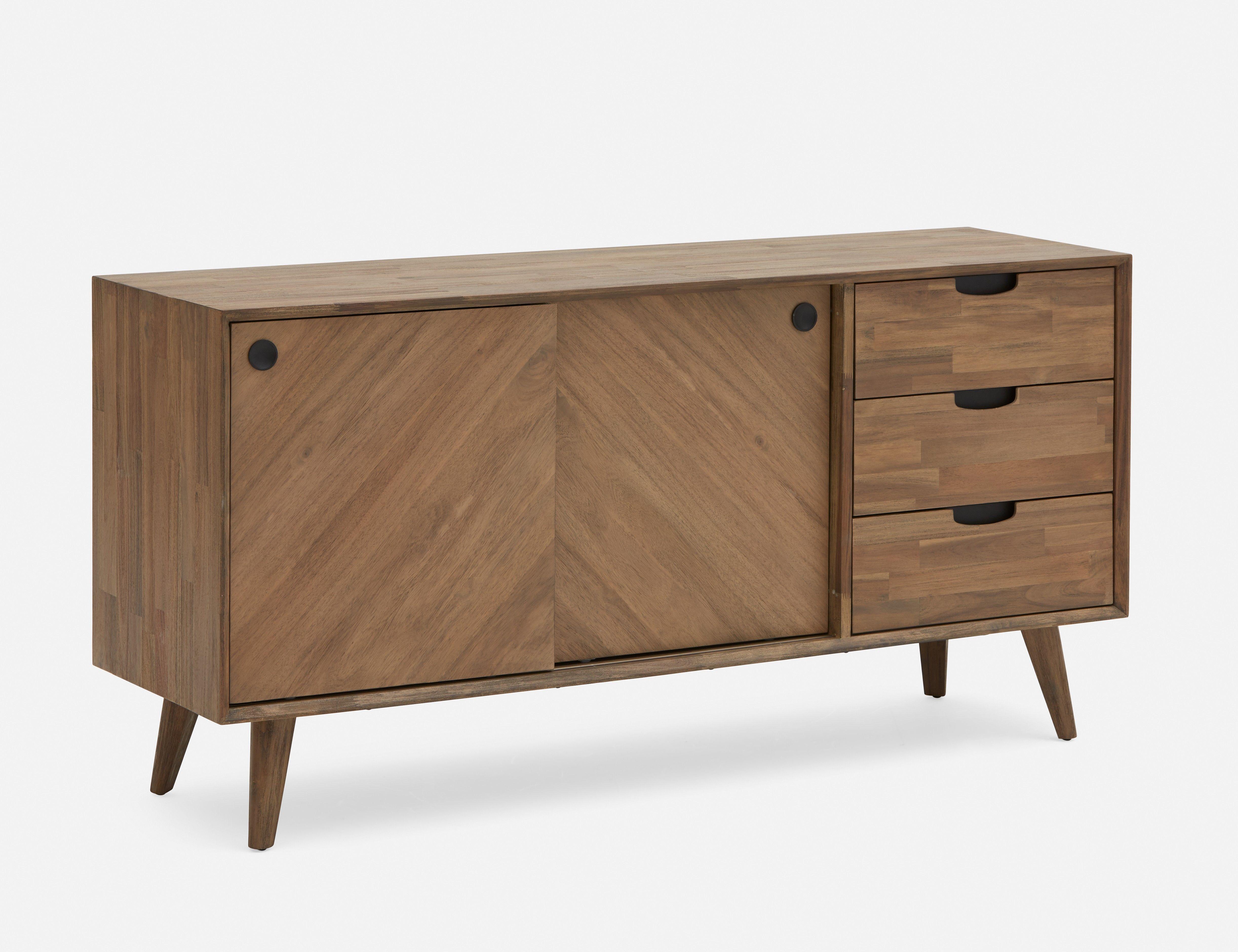 Dina Acacia Wood Multi Storage Sideboard | Random In 2019 With Regard To Keiko Modern Bookmatch Sideboards (Gallery 8 of 30)