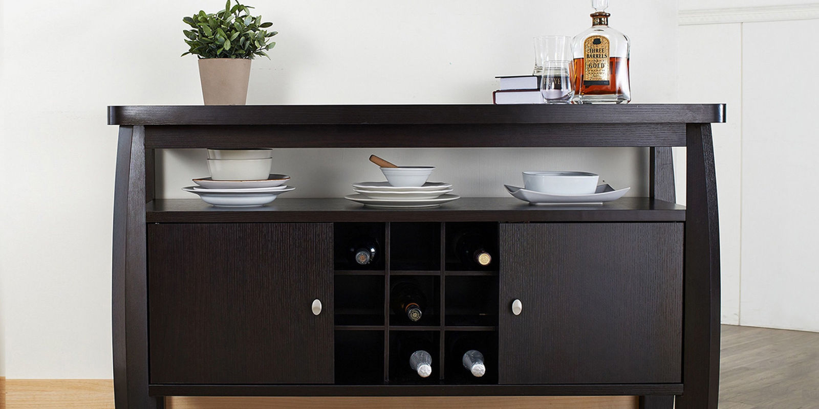 Dining Room Awesome Rectangular Wood Sideboards And Buffets Within Modern Espresso Storage Buffets (Photo 26 of 30)