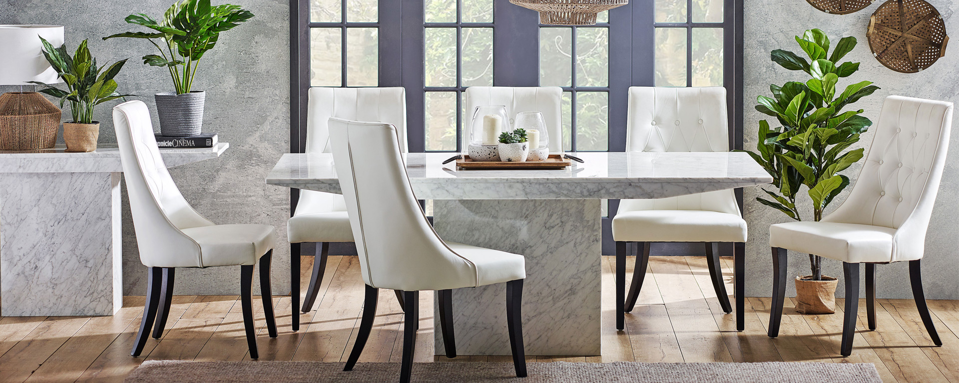 Dining Room Goals: 5 Trending Concrete And Stone Dining Regarding Togal Contemporary White/light Oak Dining Buffets (Photo 26 of 30)