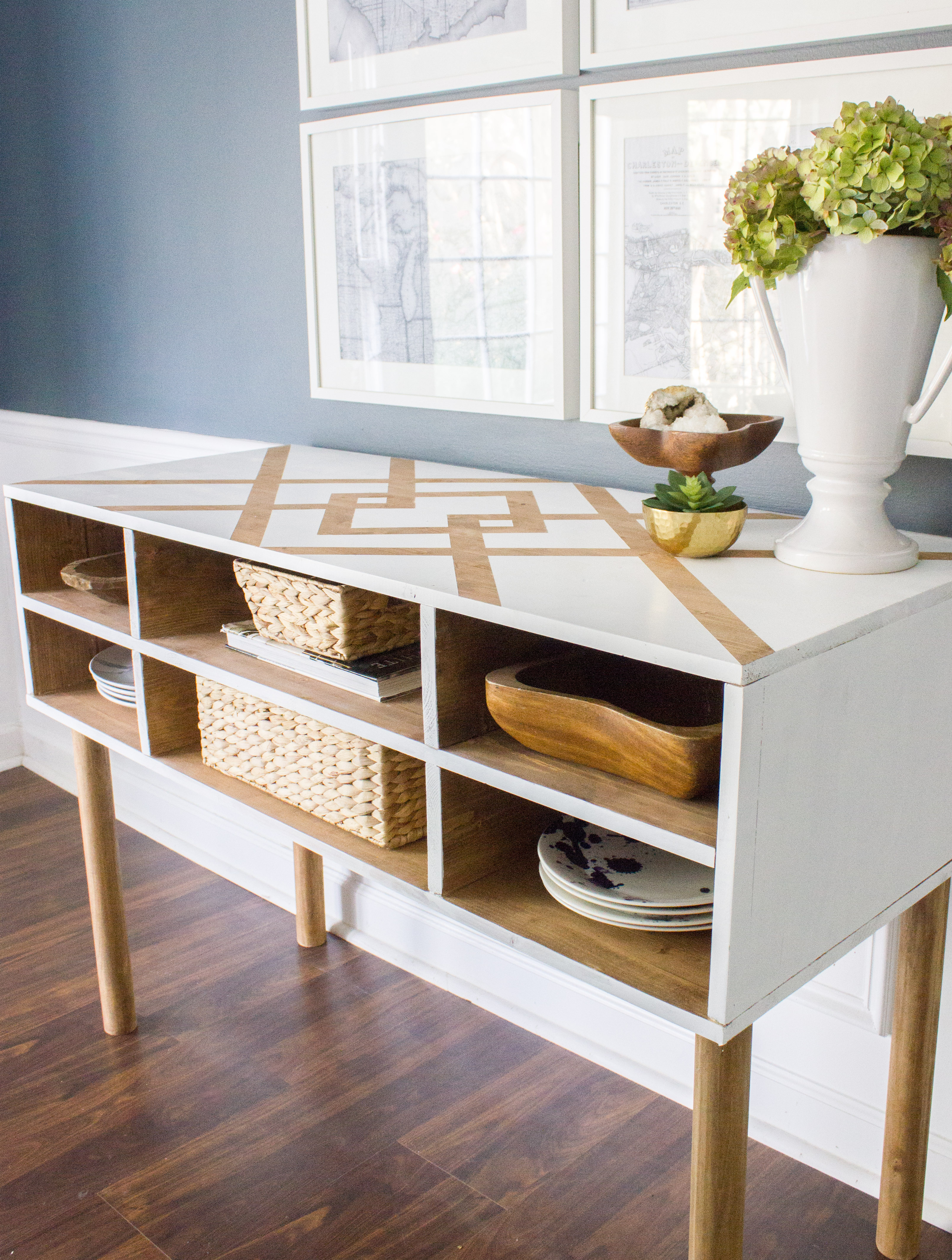 Diy Dining Room Buffet Table: Version 1   Erin Spain Within Multi Shelf Corner Buffets (Photo 24 of 30)