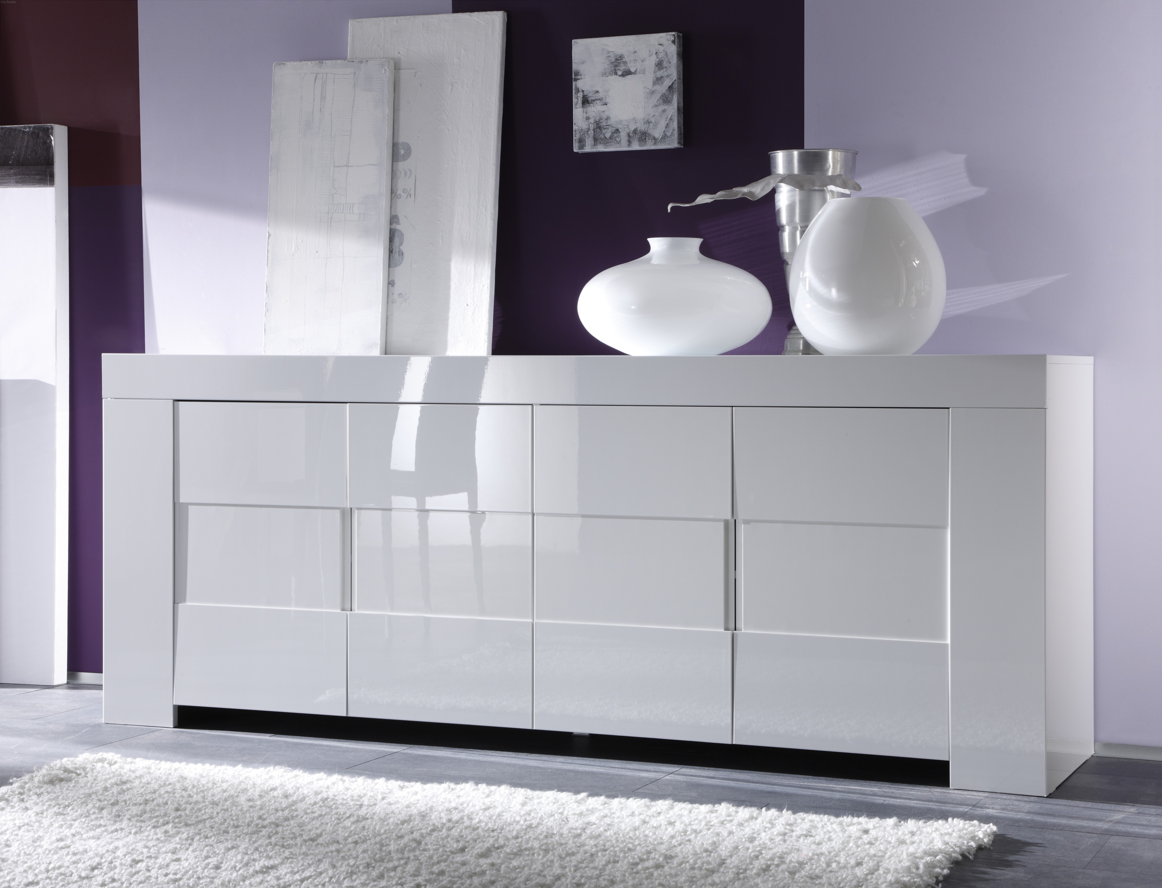 Dolce Italian White Gloss Sideboard 210Cm Regarding Thite Sideboards (Photo 8 of 30)