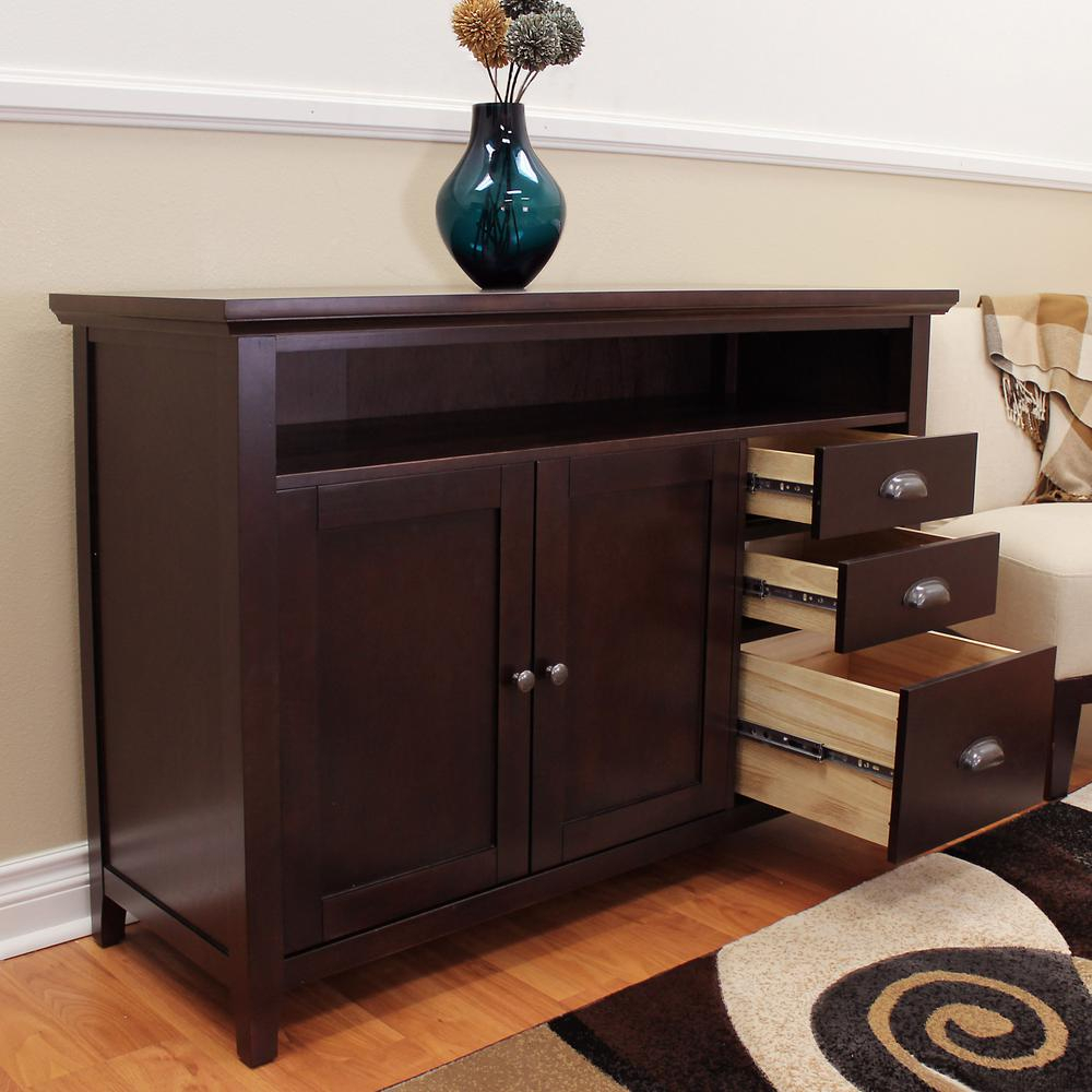 Donnieann Lindendale Espresso Sofa/buffet Table 707152 – The Regarding Espresso Wood Multi Use Buffets (View 15 of 30)