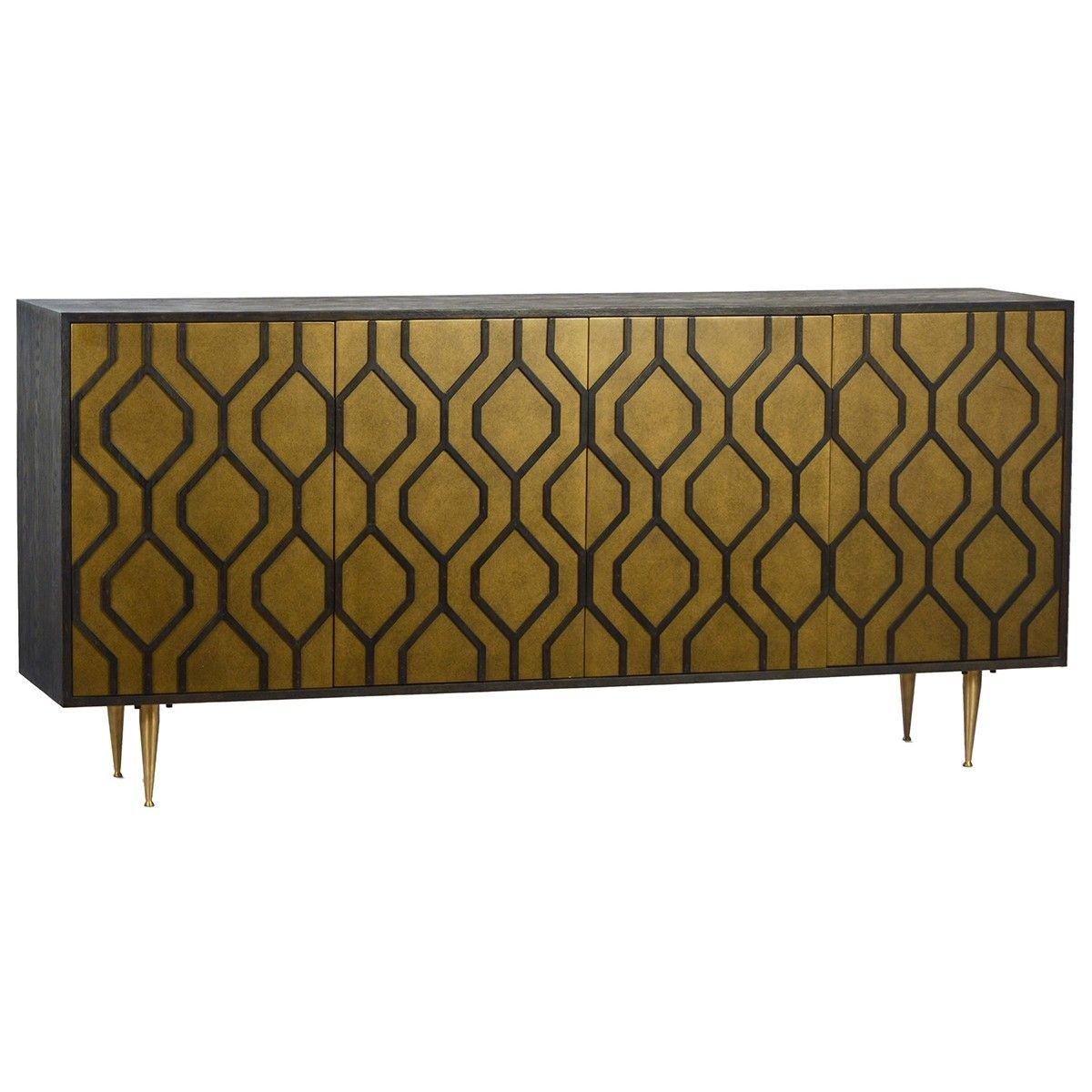 Dovetail Devon Sideboard - 4 Door In 2019 | Cabinets + intended for Line Geo Credenzas (Image 12 of 30)