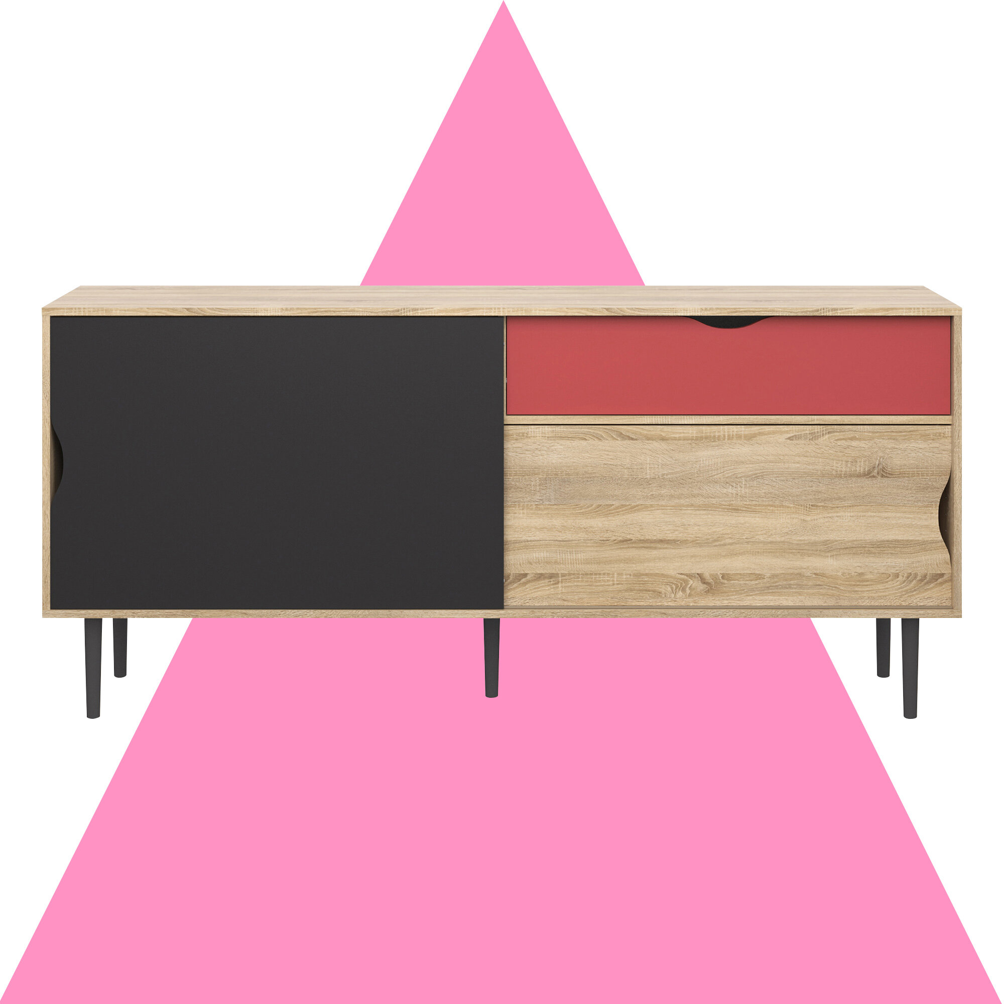 Dovray Buffet Table For Pink And White Geometric Buffets (Photo 26 of 30)