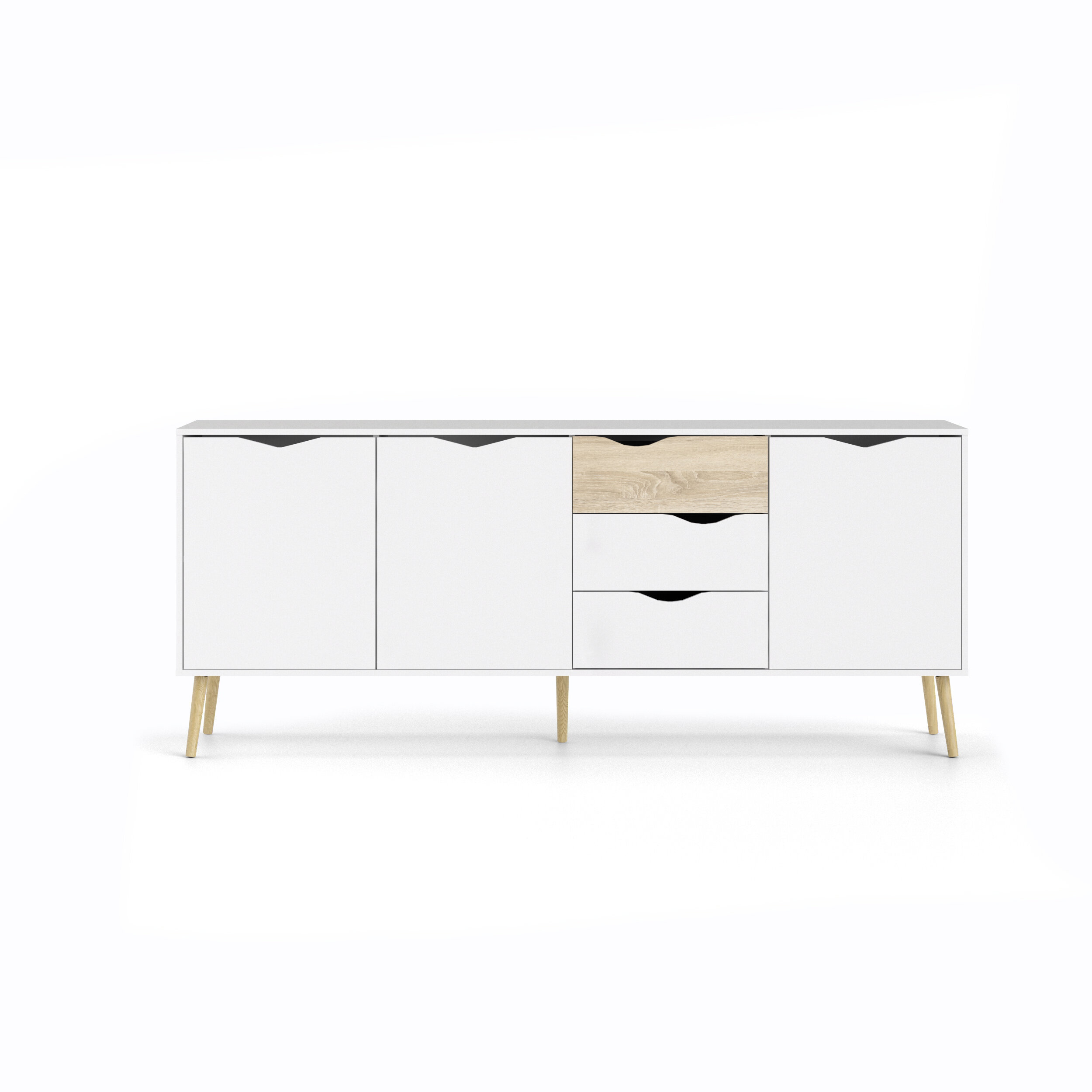 Dowler Buffet Table With Light White Oak Two Tone Modern Buffets (Photo 5 of 30)