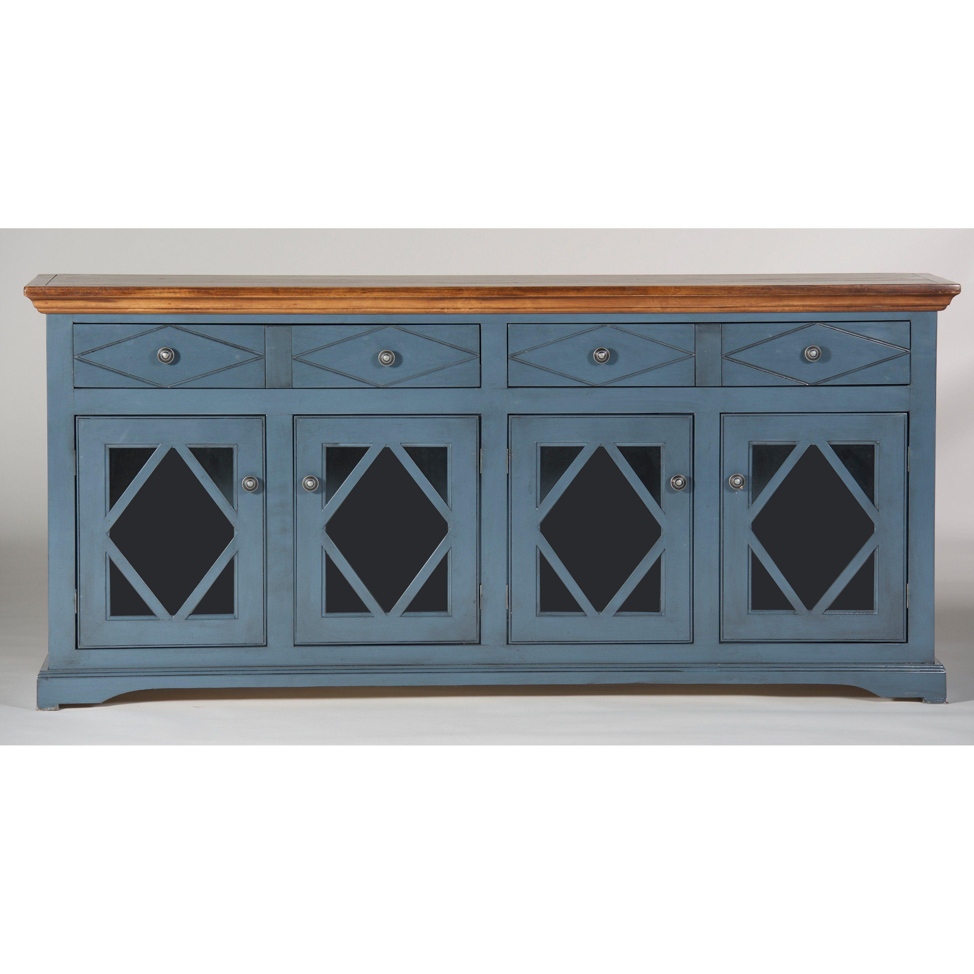 Eagle Furniture Shelter Bay 71 In. Credenza | From Hayneedle regarding Kronburgh Sideboards (Image 8 of 30)