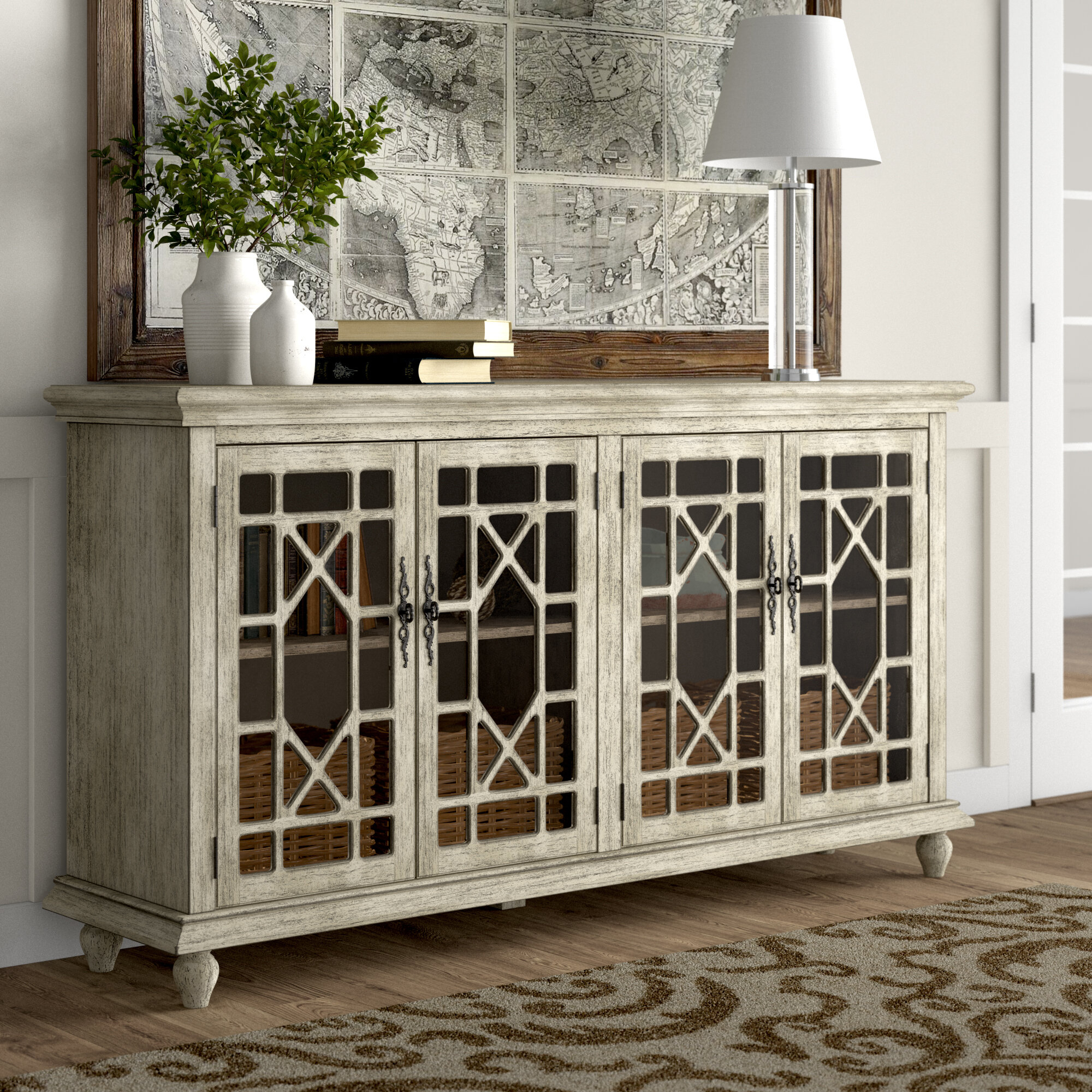 Eclectic Sideboards & Buffets | Birch Lane With Regard To Steinhatchee Reclaimed Pine 4 Door Sideboards (View 14 of 30)