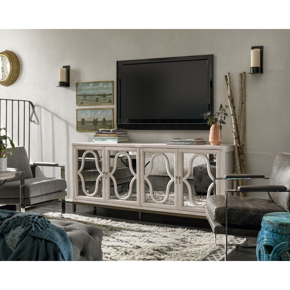 """Elan White Wood Entertainment Console In 2019   Apartment With Parmelee Tv Stands For Tvs Up To 65"""" (View 16 of 30)"""