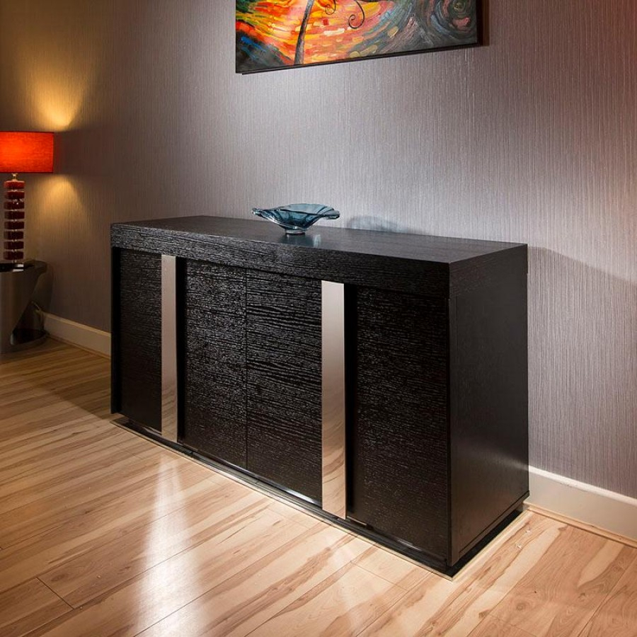 Elegant Black Sideboard Buffet — Furniture Ideas Intended For Contemporary Black Buffets (View 11 of 30)