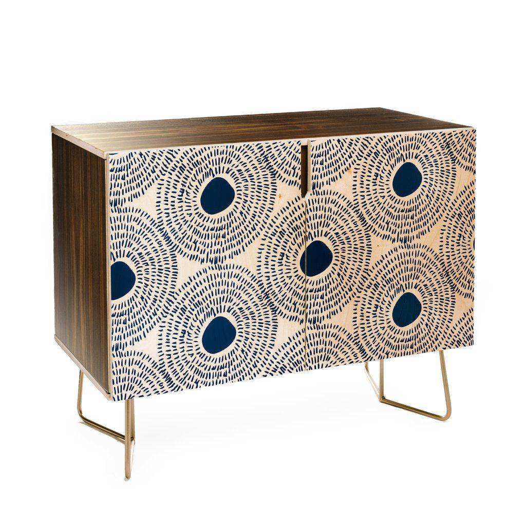 Elisabeth Fredriksson Soft Blue Gradient Cubes Credenza Pertaining To Blue Hexagons And Diamonds Credenzas (Gallery 27 of 30)