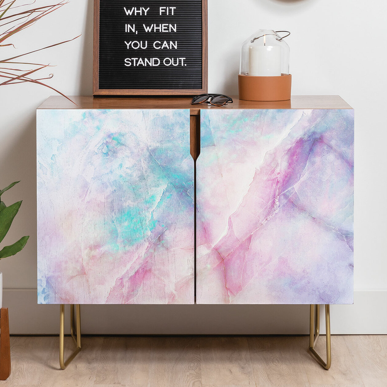 Emanuela Iridescent Marble Credenza Within Strokes And Waves Credenzas (View 13 of 30)