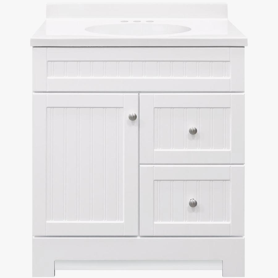 Enchanting White Single Bathroom Vanity – Treadmillmag.top Throughout Arminta Wood Sideboards (Gallery 28 of 30)