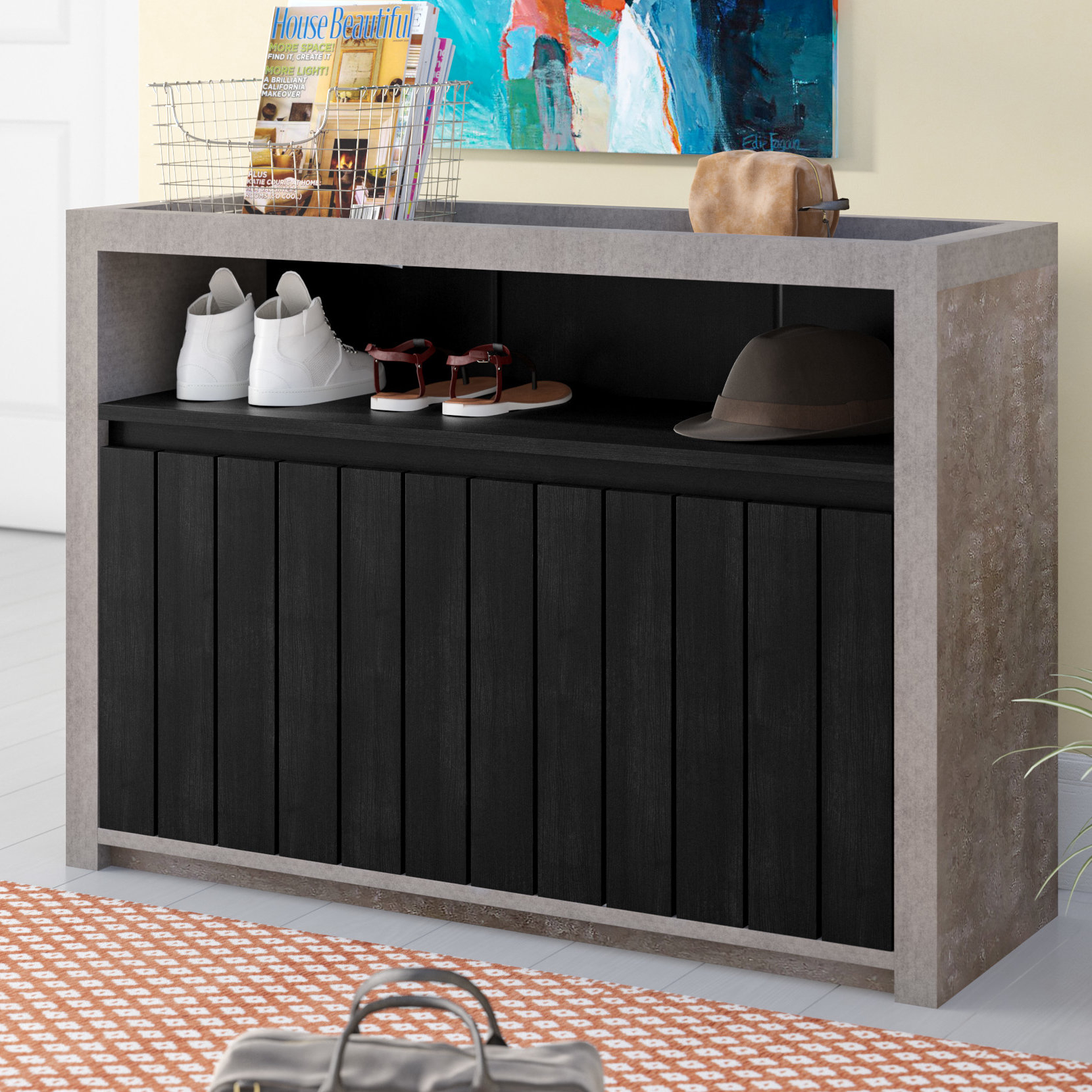 Entryway Buffet | Wayfair with Industrial Concrete-Like Buffets (Image 19 of 30)