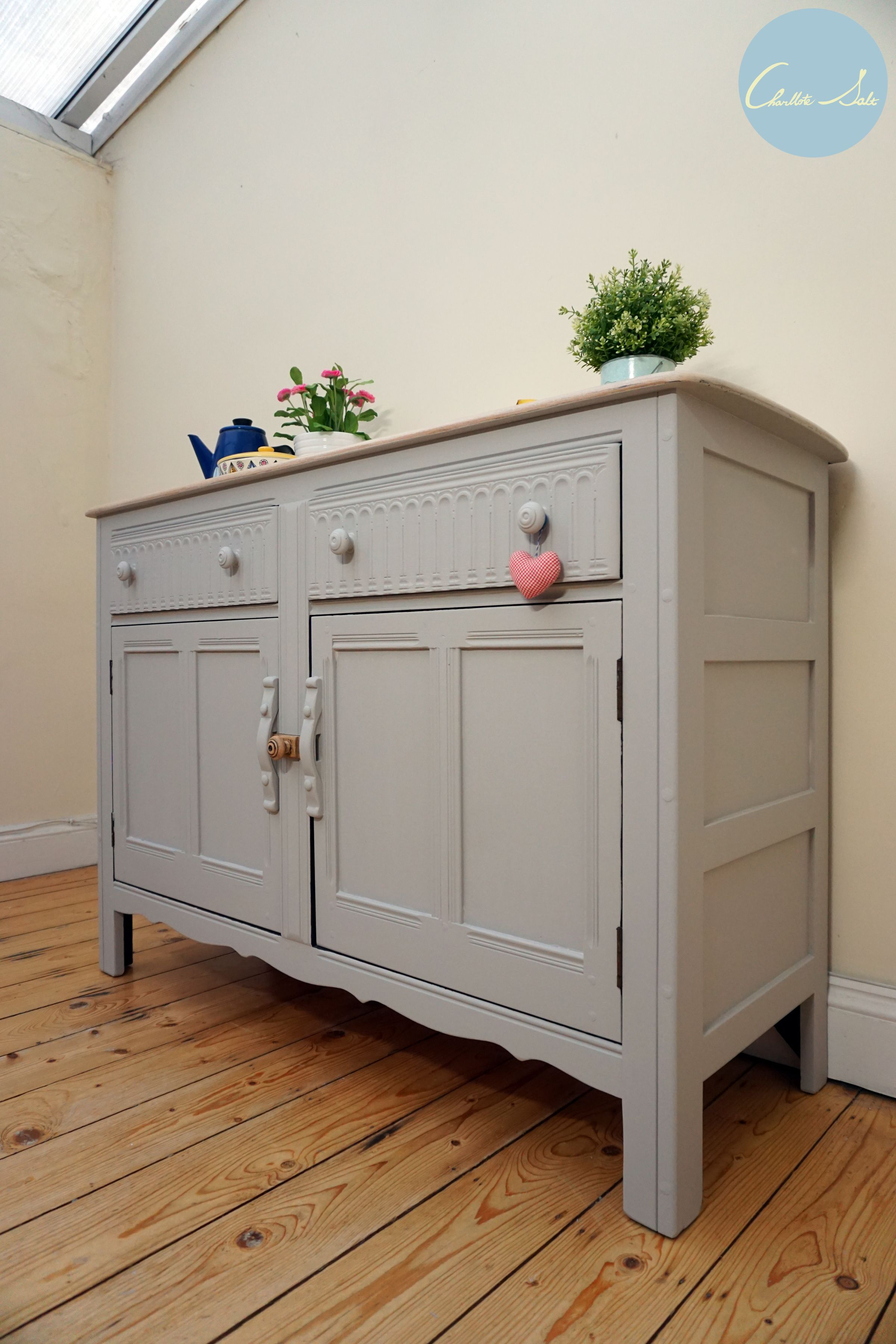 Ercol Sideboard Is Painted In Laura Ashley Dark Dove Grey Regarding White And Grey Sideboards (Photo 18 of 30)