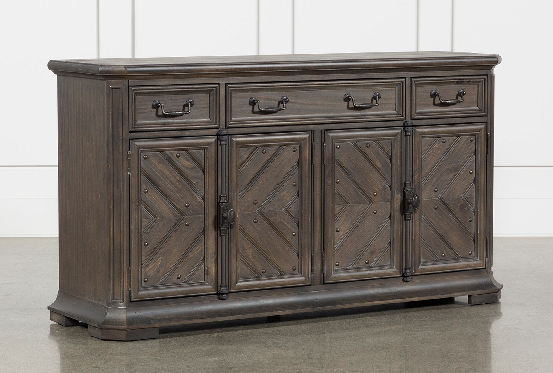 Erickson Buffet Living Spaces Narrow Sideboard Buffet With Regard To Simple Living Southport Dining Buffets (View 7 of 30)