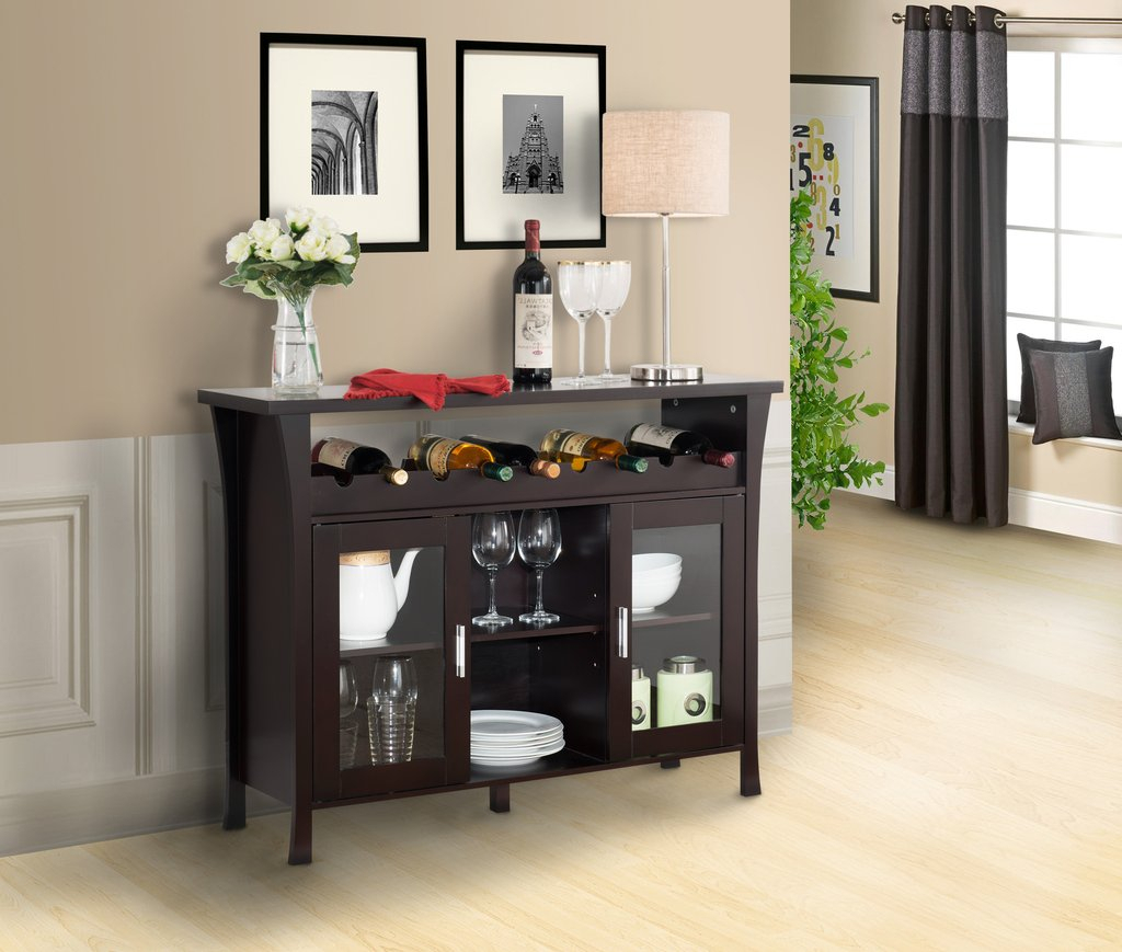 Espresso Buffet Table Style — Furniture Ideas : Decorating intended for Modern Espresso Storage Buffets (Image 8 of 30)