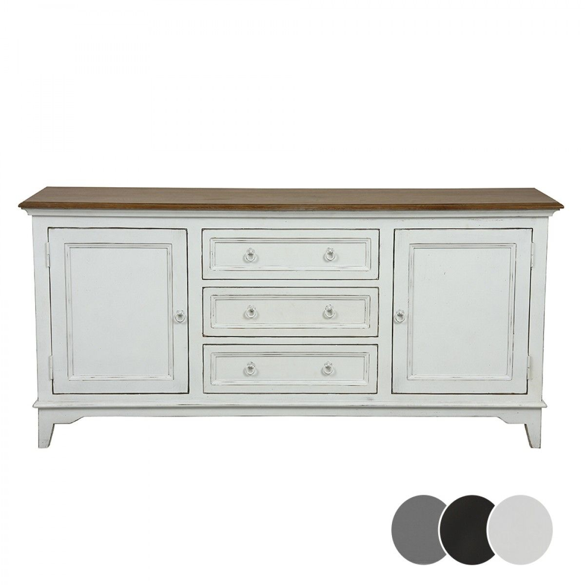 Esquisse 2 Door 3 Drawer Sideboard – Black – Buffets Throughout Emmaline Sideboards (View 4 of 30)