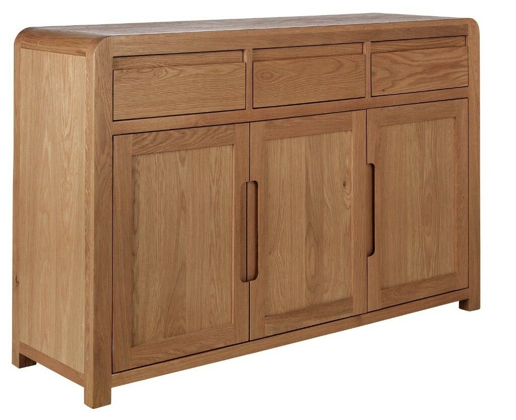 Ex Display Argos Home Novara 3 Door 3 Drawer Sideboard   Oak Veneer | In  Bradford, West Yorkshire | Gumtree Inside Malibu 2 Door 4 Drawer Sideboards (Photo 12 of 30)