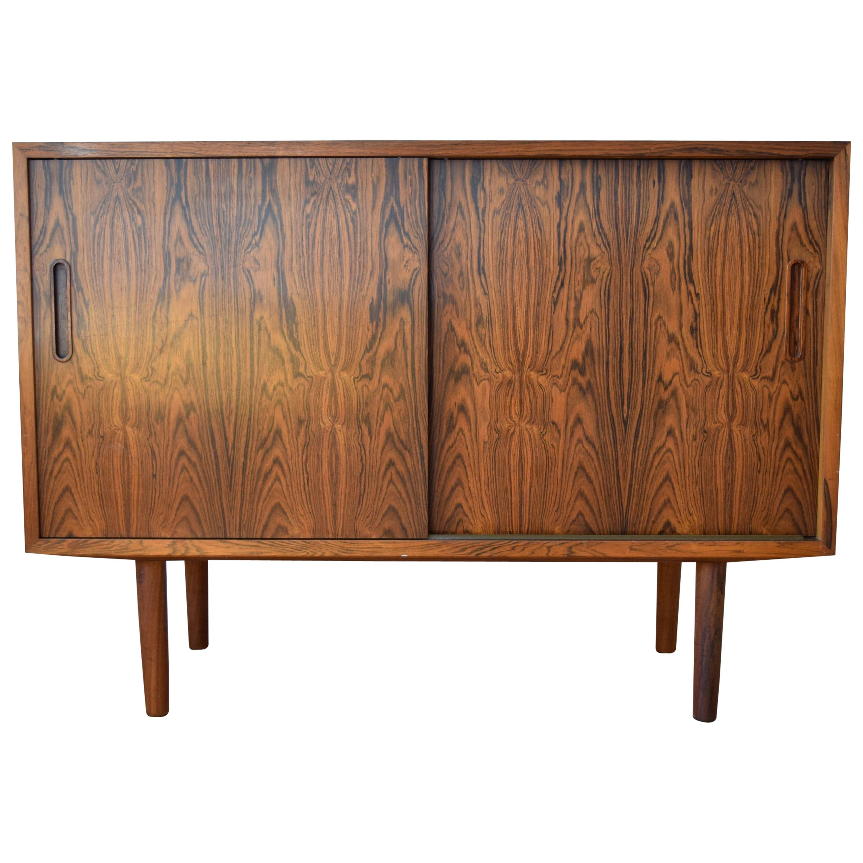 Exclusive 1960s Kai Winding Rosewood Sideboard With Drawers Poul Jeppesen Brass Inside Wendell Sideboards (View 17 of 30)