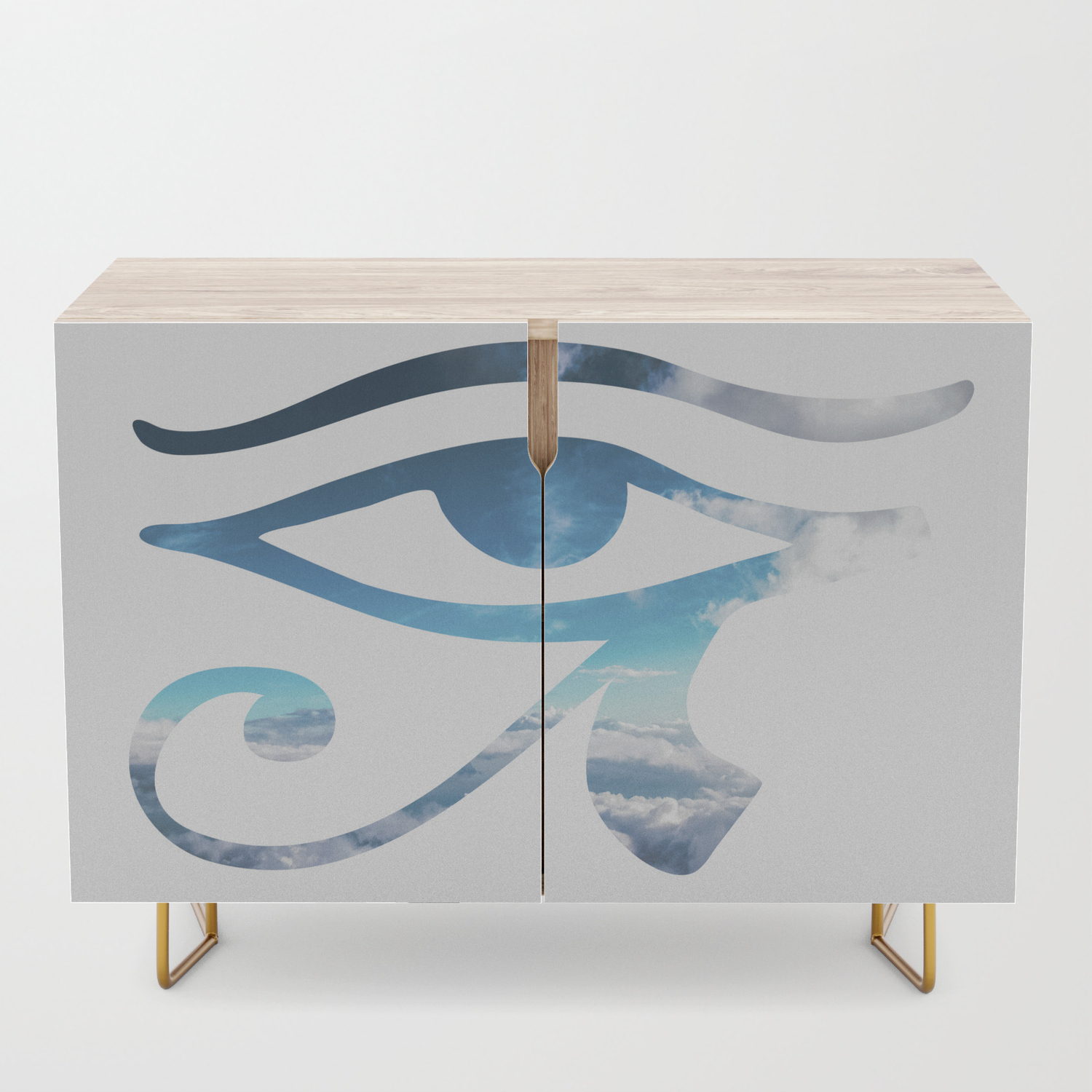 Eye Of Horus Sky Background Credenza In Turquoise Skies Credenzas (View 17 of 30)