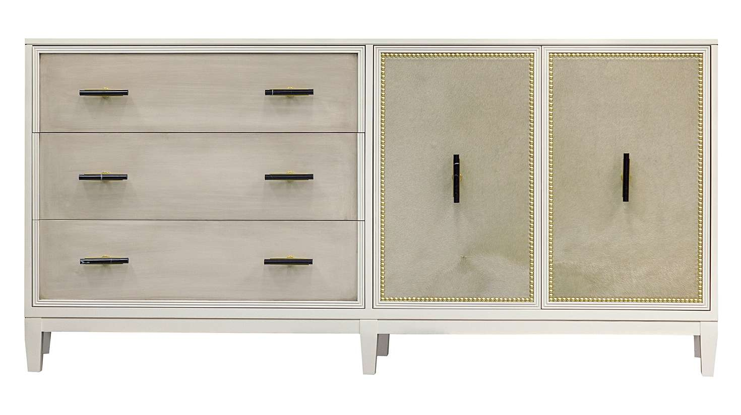 "Facets 72"" Credenza, Three Drawer, Two Door 