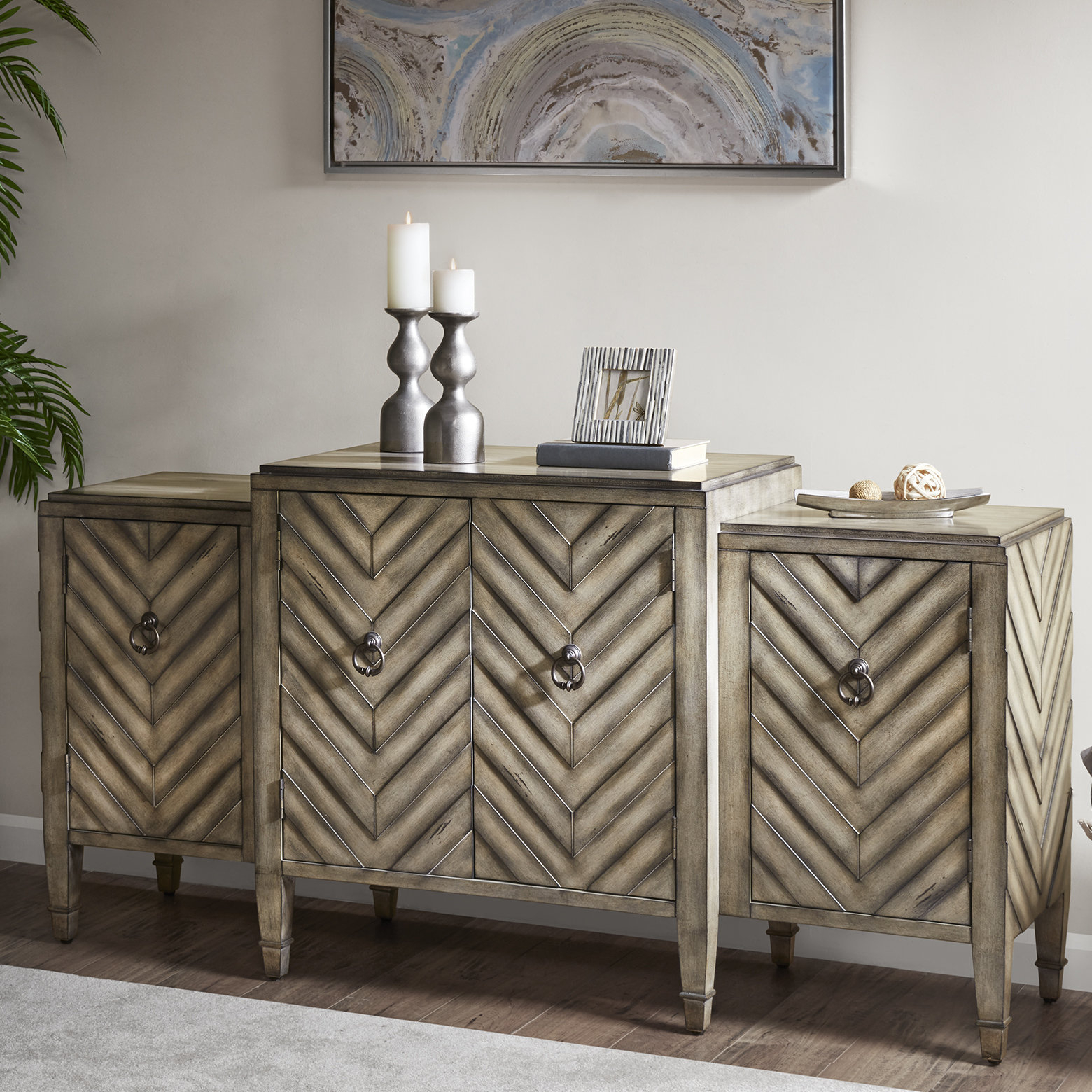 Farmhouse & Rustic Bungalow Rose Sideboards & Buffets Within Steinhatchee Reclaimed Pine 4 Door Sideboards (View 16 of 30)