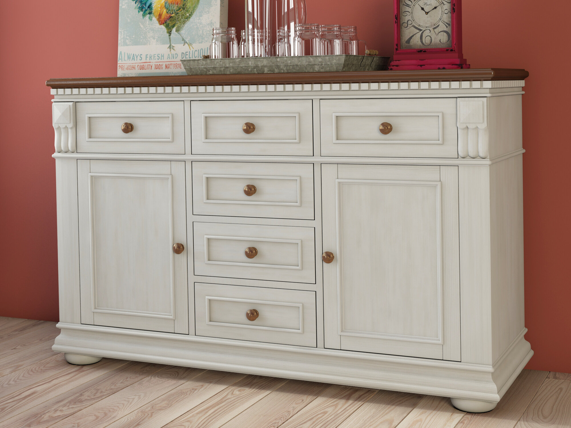 Farmhouse & Rustic Darby Home Co Sideboards & Buffets Within Phyllis Sideboards (View 23 of 30)