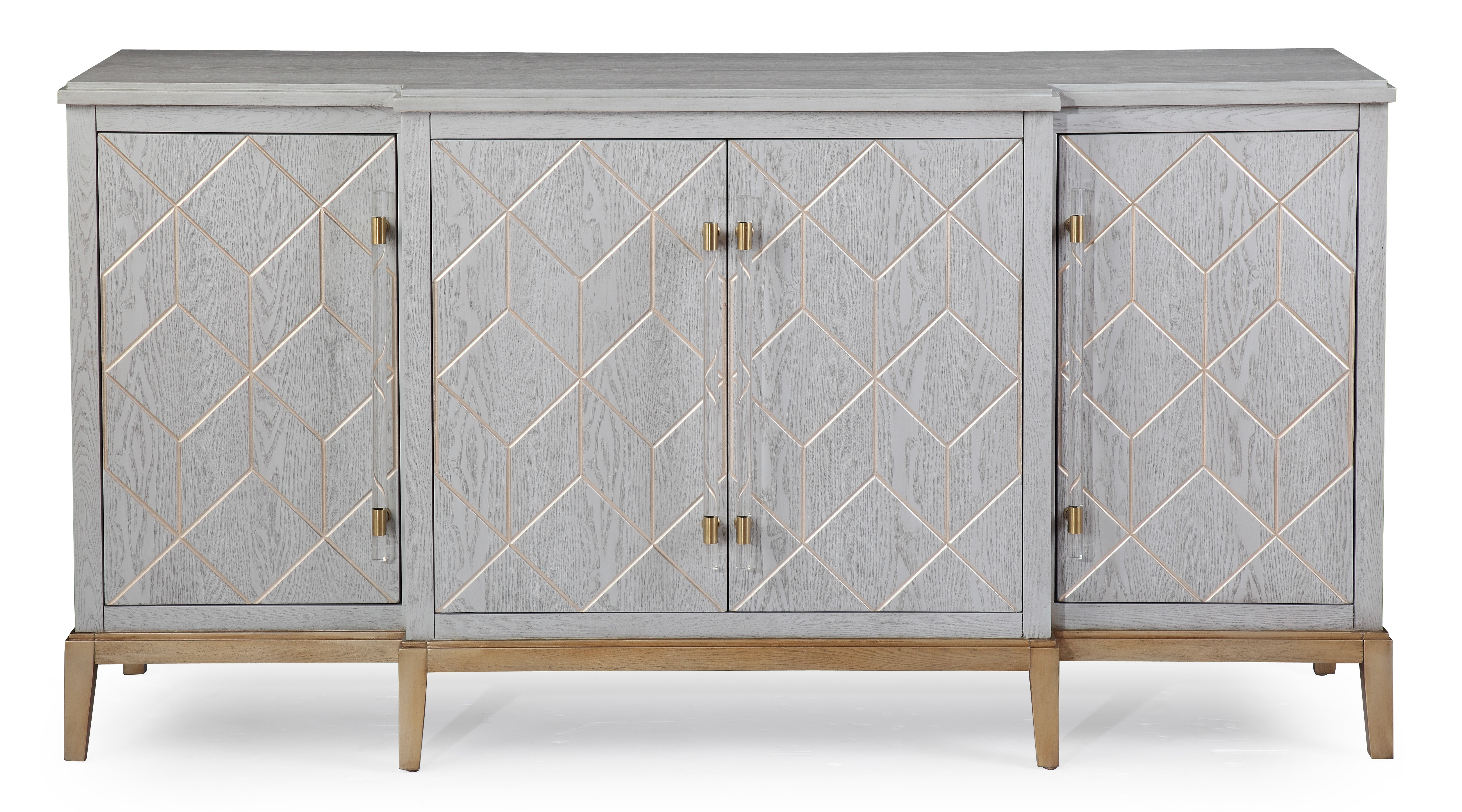 Farmhouse & Rustic Gray Wood Sideboards & Buffets | Birch Lane in Candide Wood Credenzas (Image 13 of 30)