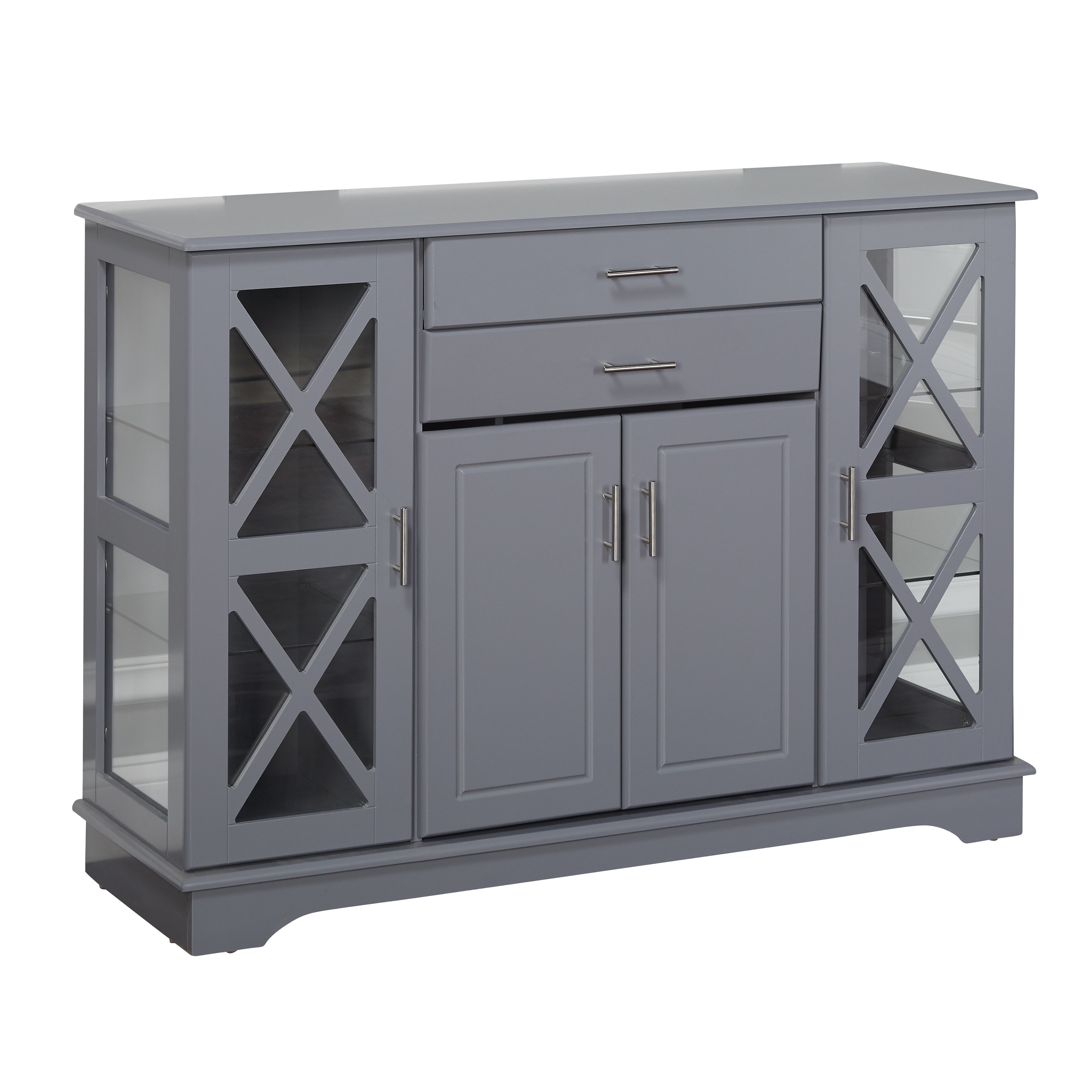 Farmhouse & Rustic Grey Sideboards & Buffets | Birch Lane throughout Candide Wood Credenzas (Image 15 of 30)