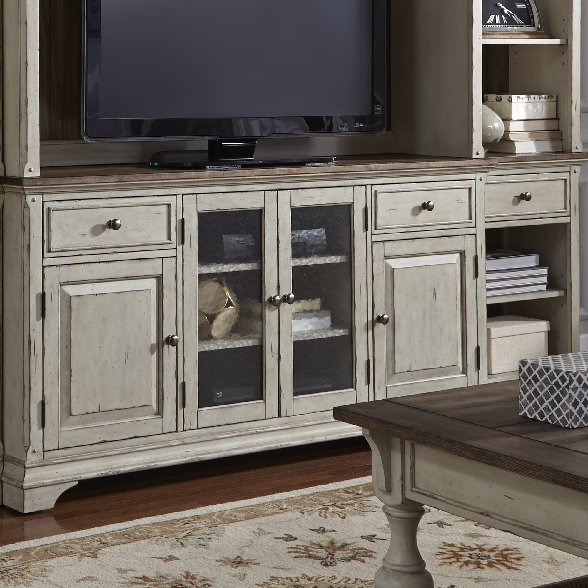 "Farmhouse & Rustic Rosecliff Heights Tv Stands | Birch Lane regarding Colefax Vintage Tv Stands For Tvs Up To 78"" (Image 23 of 30)"