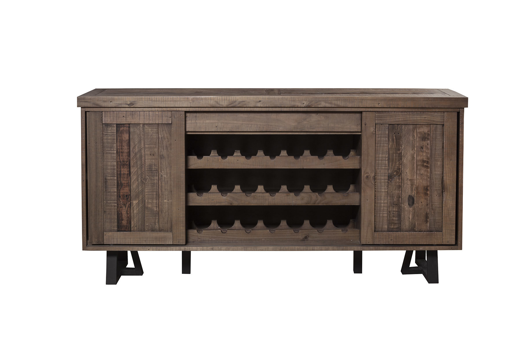 Farmhouse & Rustic Solid Wood Sideboards & Buffets | Birch Lane with regard to Solid And Composite Wood Buffets In Cappuccino Finish (Image 6 of 30)