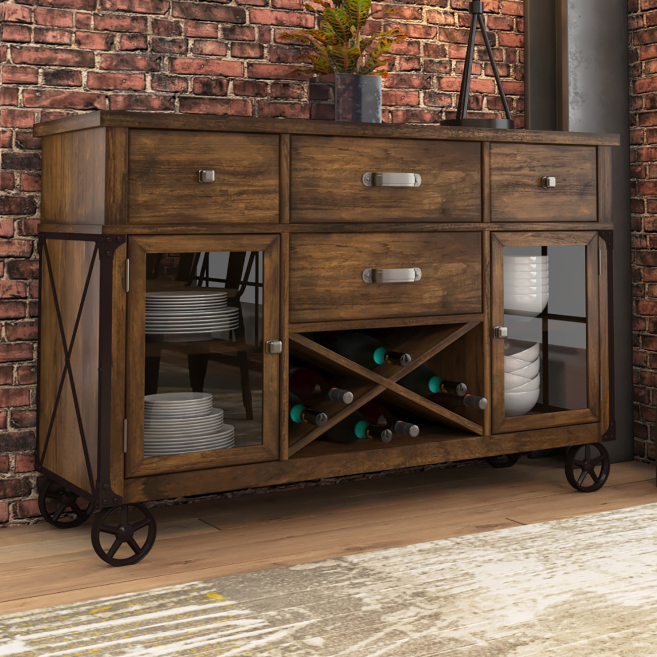 Farmhouse & Rustic Trent Austin Design Sideboards & Buffets throughout Avenal Sideboards (Image 16 of 30)