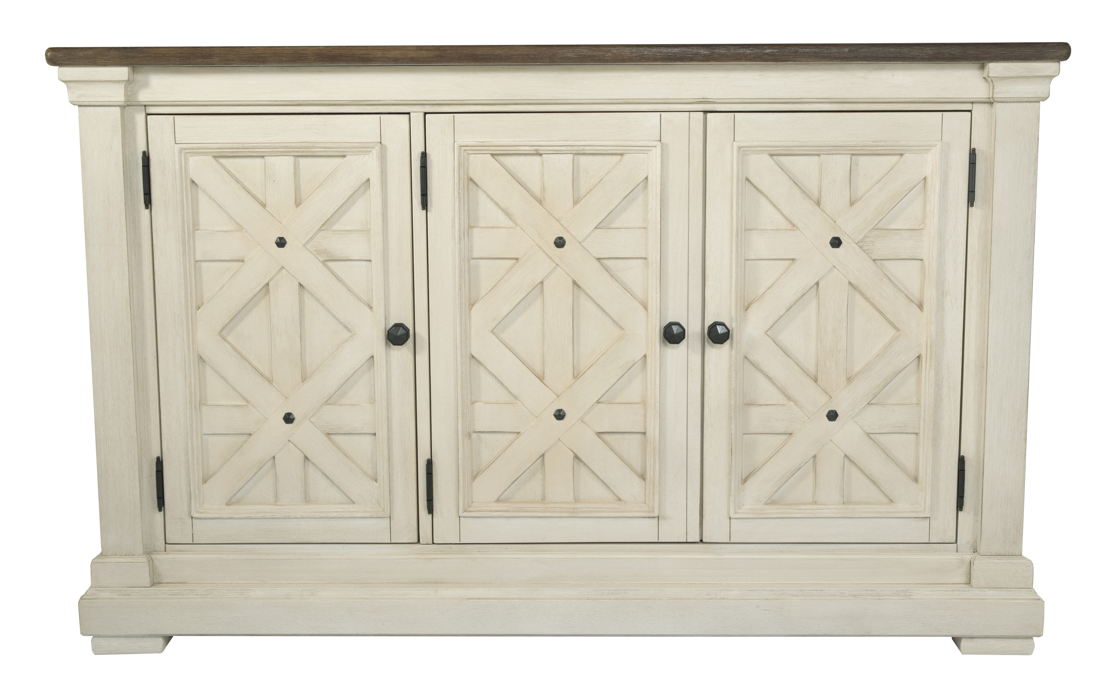 Farmhouse & Rustic White Wood Sideboards & Buffets | Birch Lane in Ilyan Traditional Wood Sideboards (Image 8 of 30)
