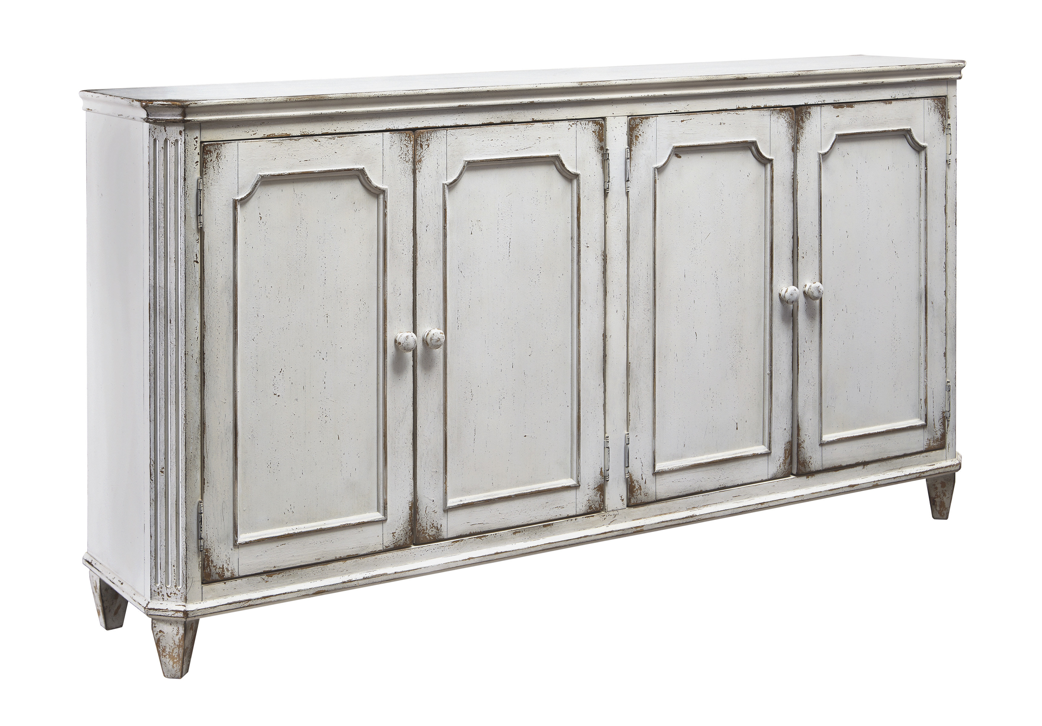 Farmhouse & Rustic White Wood Sideboards & Buffets | Birch Lane regarding Ilyan Traditional Wood Sideboards (Image 9 of 30)