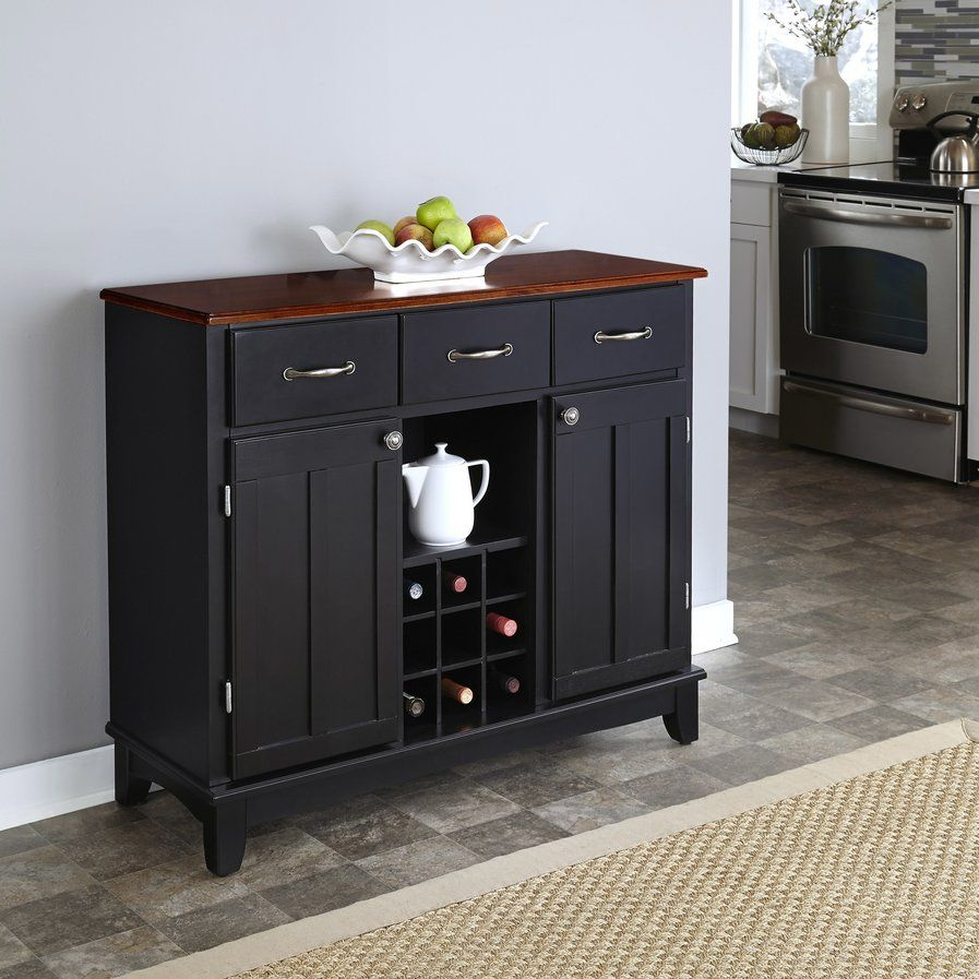 Ferris 3 Drawer Wood Server | Brickell Plans | Buffet Server within 3-Drawer Black Storage Buffets (Image 20 of 30)