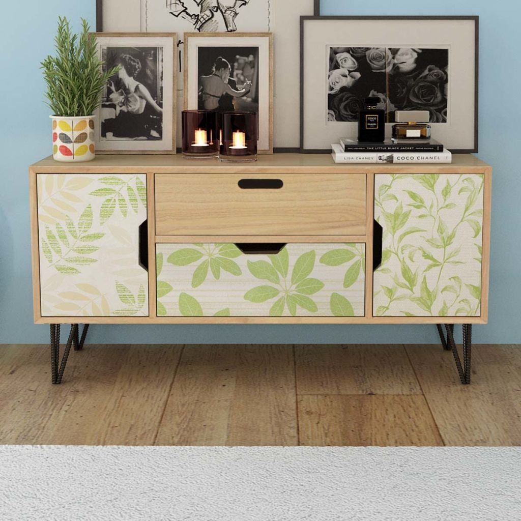 Festnight Modern Buffet Sideboard Console Table With 2 Intended For Emiliano Sideboards (View 17 of 30)