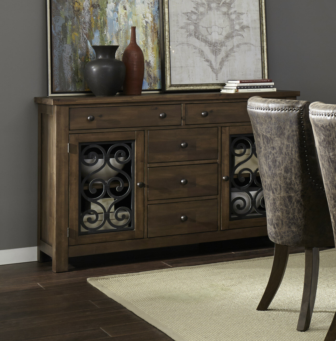 Fleur De Lis Living Burmeister Storage Sideboard | Wayfair Inside Phyllis Sideboards (View 2 of 30)