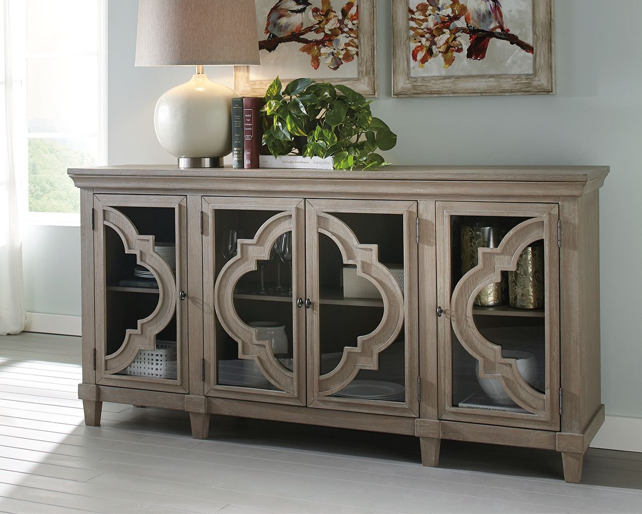 Fossil Ridge Accent Cabinet, Gray | Products In 2019 Inside Serafino Media Credenzas (View 12 of 30)