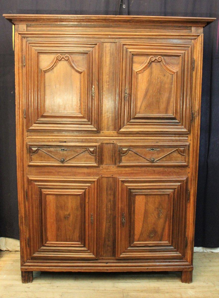Four Doors Rustic Walnut Furniture Louis Xiv – Buffets Within Rustic Walnut Buffets (View 16 of 30)