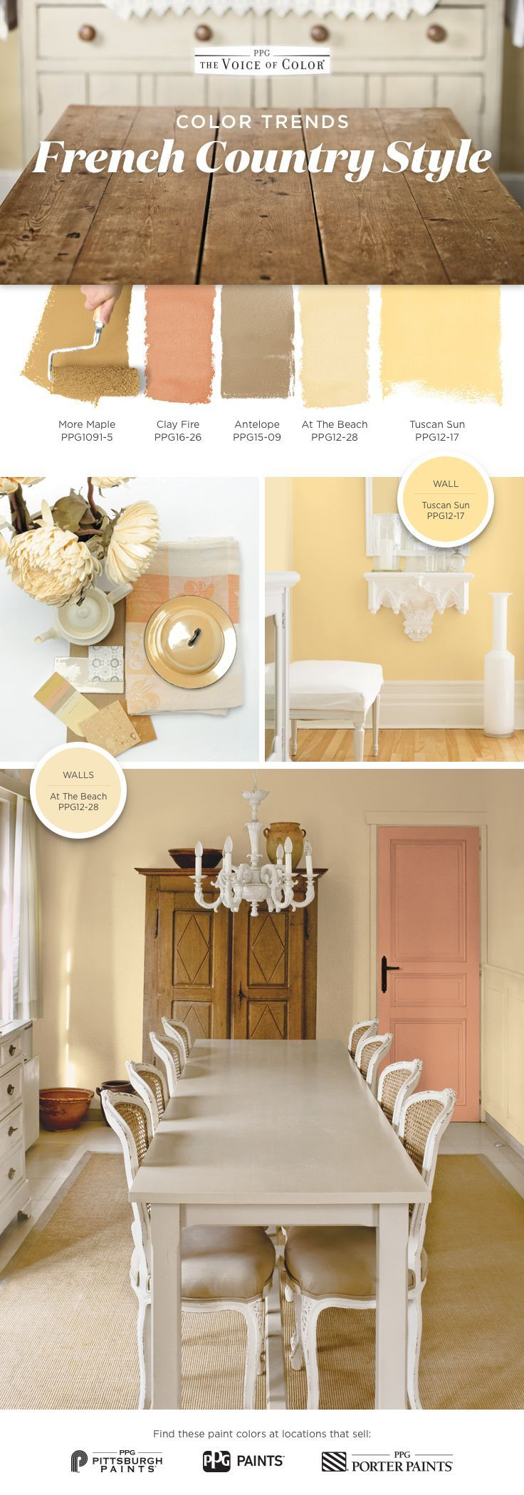 French Country Color Palette! You Don't Need A Getaway In within Juicy Guava Credenzas (Image 15 of 30)