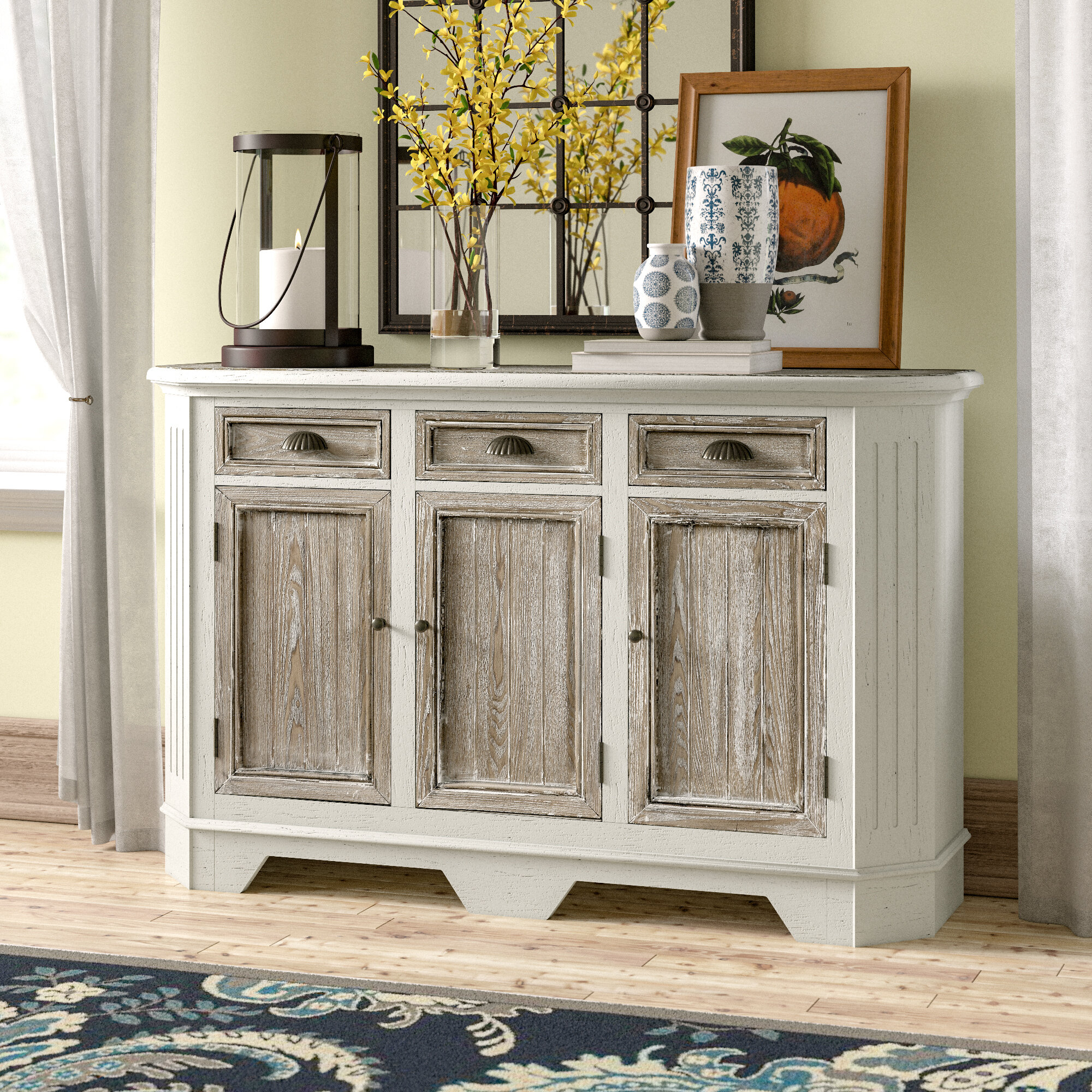 Funkhouser 3 Door 3 Drawer Sideboard Intended For Tiphaine Sideboards (View 18 of 30)