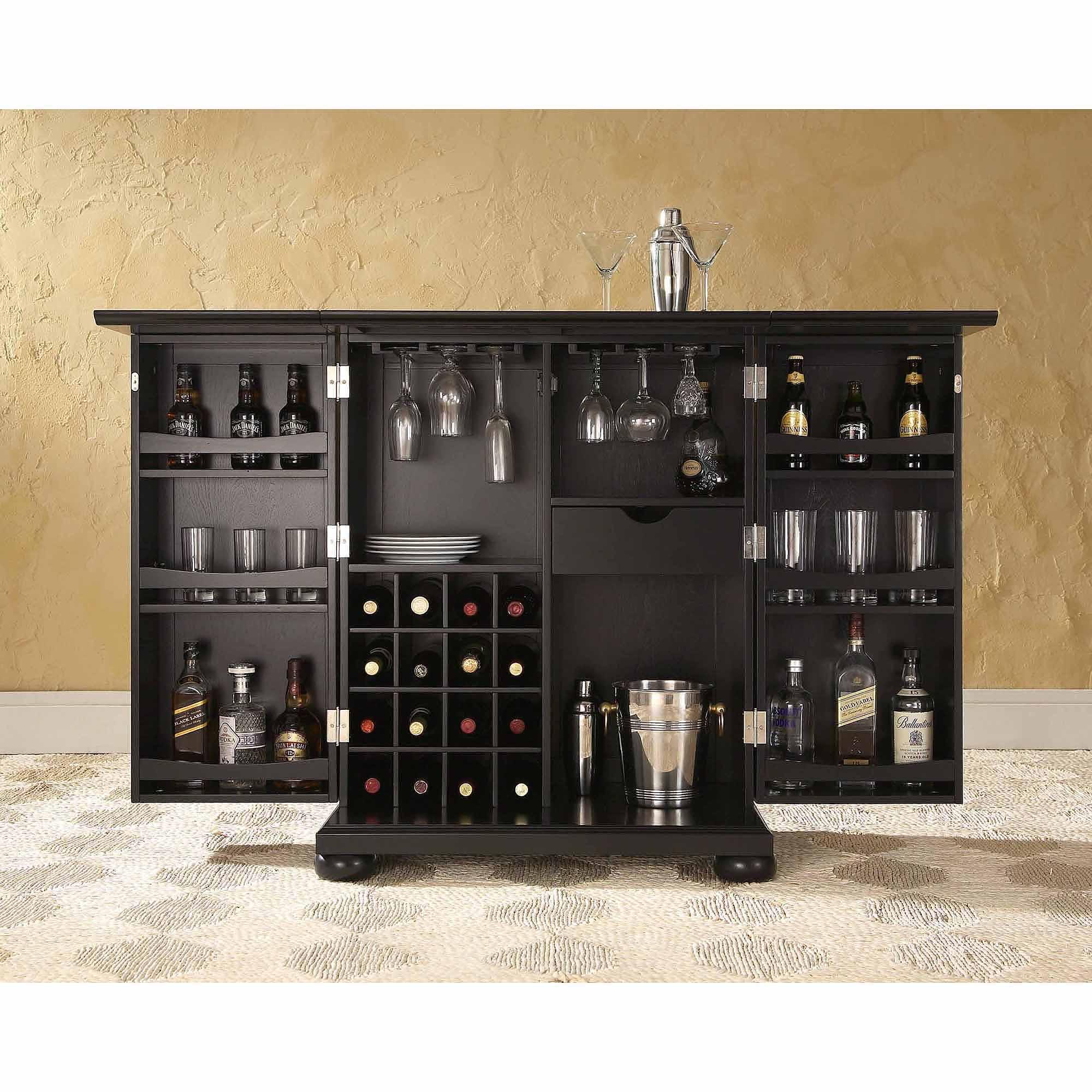 Furniture Of America Alton Modern Multi Storage Buffet, Espresso Regarding Espresso Wood Multi Use Buffets (View 17 of 30)