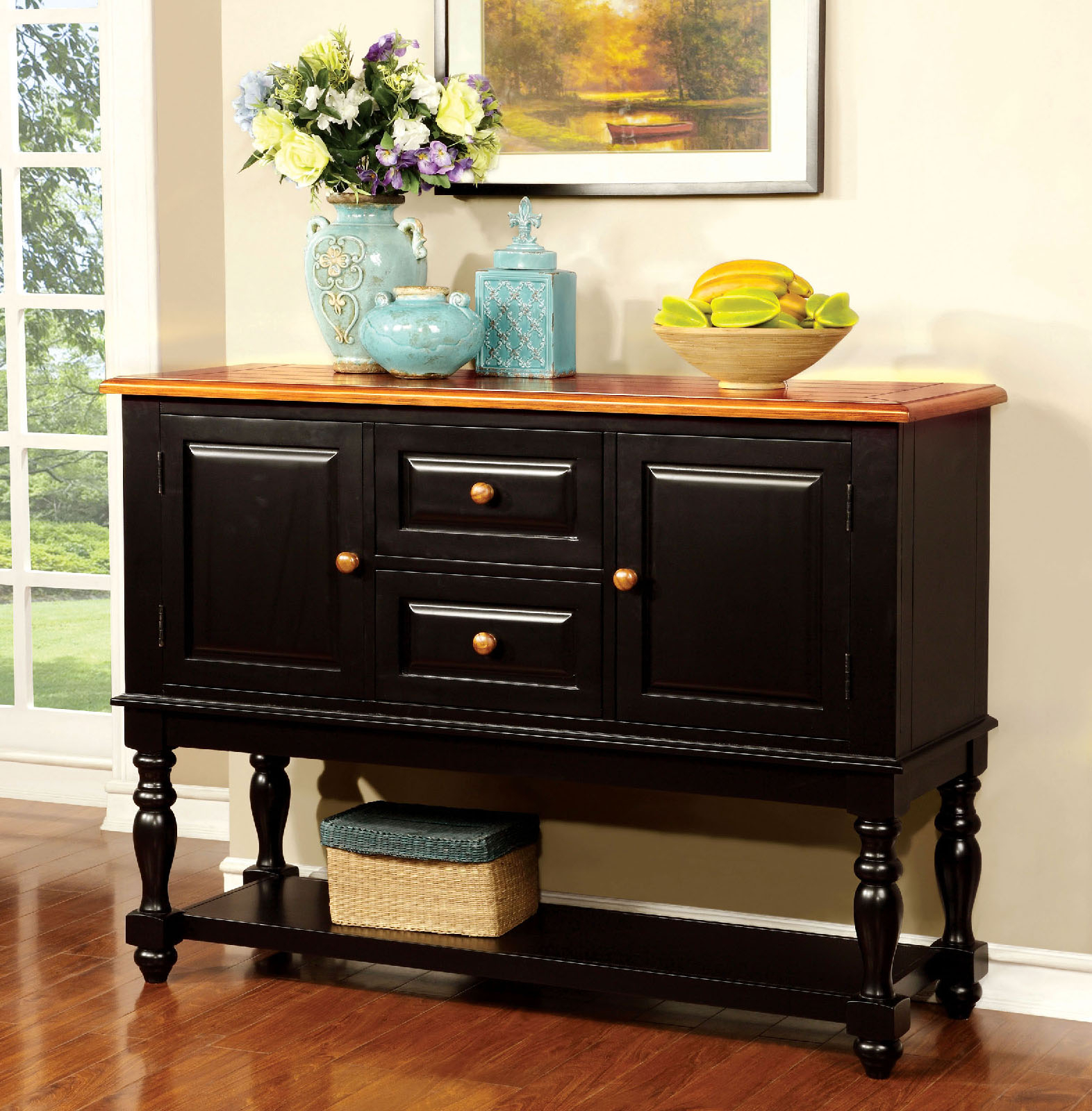 Furniture Of America Crestview Contemporary Buffet Sideboard Regarding Contemporary Cappuccino Buffets (View 11 of 30)