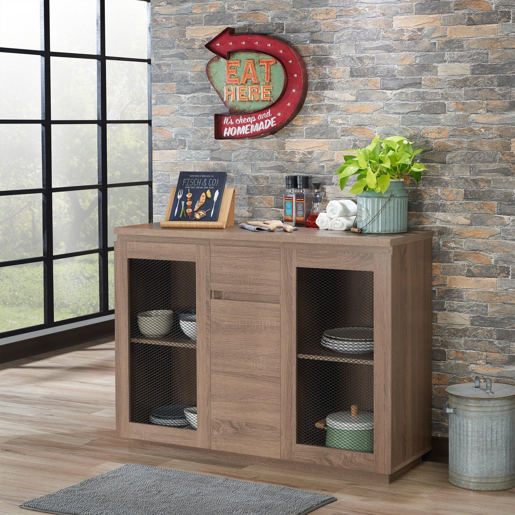 Furniture Of America Darwen Contemporary Multi Storage Dining Buffet Pertaining To Contemporary Multi Storage Dining Buffets (View 11 of 30)
