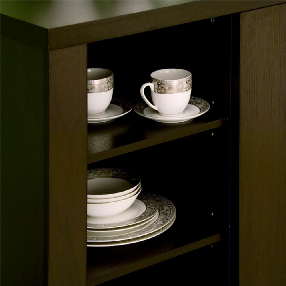 Furniture Of America Delanore Cappuccino Buffet Id 11423 Pertaining To Cappuccino Finished Buffets (View 14 of 30)