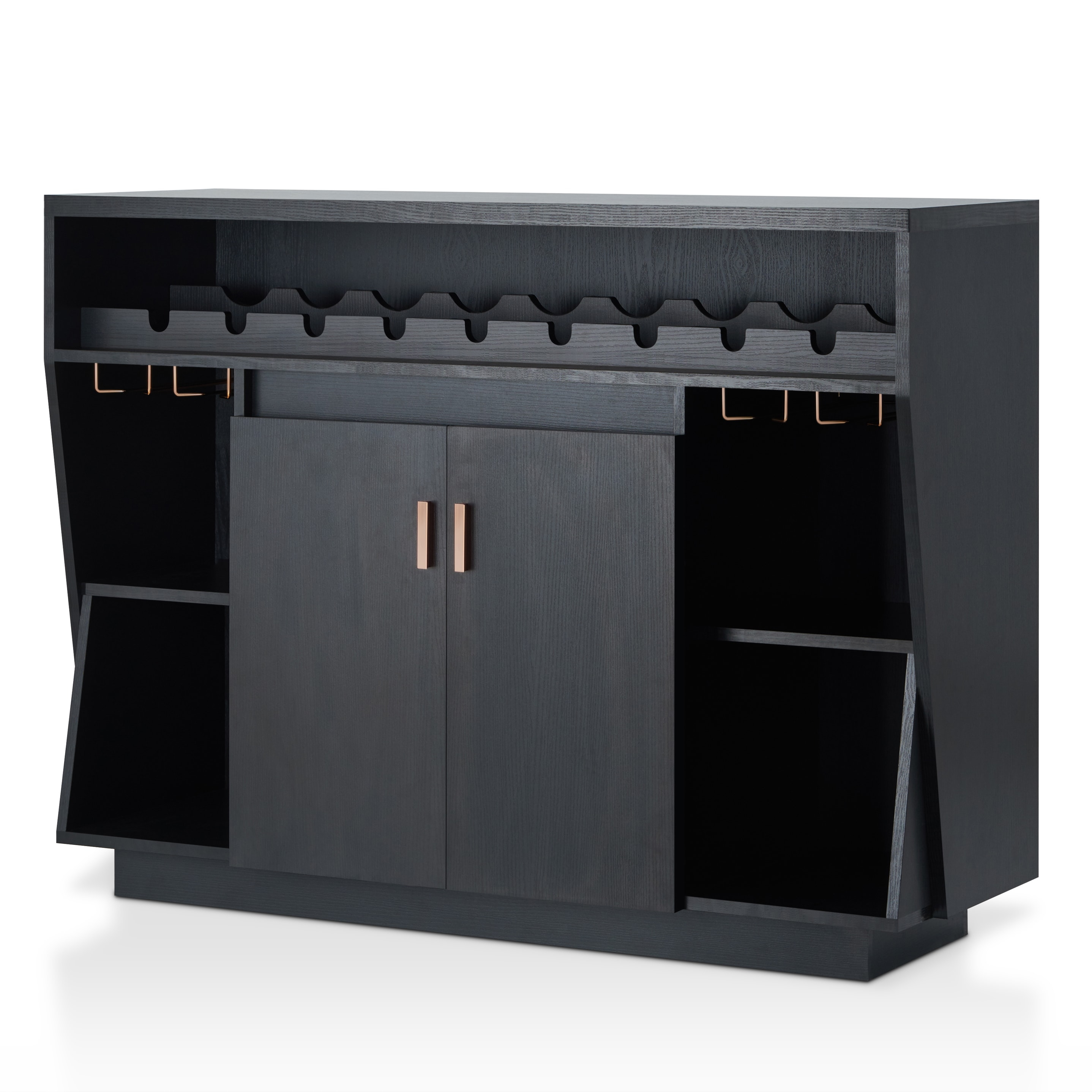 Furniture Of America Gergich Contemporary 47 Inch Black Dining Buffetfoa With Regard To Contemporary Black Dining Buffets (View 9 of 30)