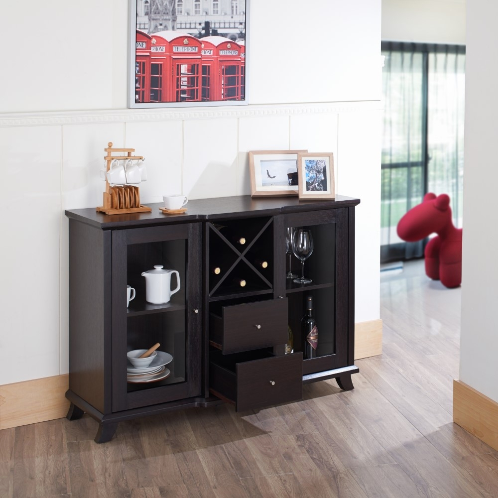 Furniture Of America – Jens Contemporary Multi Storage Dining Buffet In Cappuccino – Idi 13835 Within Contemporary Multi Storage Dining Buffets (View 5 of 30)